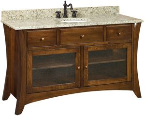 "Oak - Caledonia49"" Vanity - Amish Furniture"
