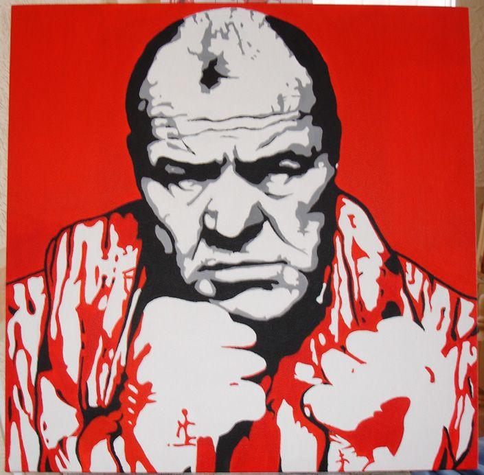 Lenny Mclean acrylic on canvas
