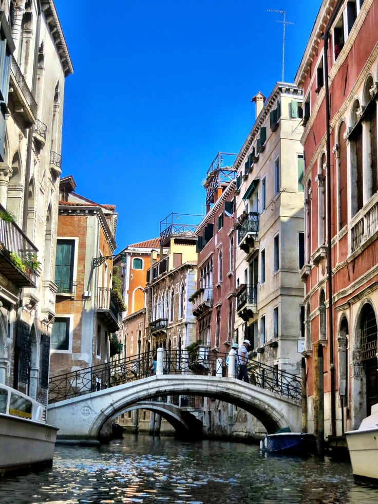 Gondola ride through part of the hundreds of canals in Venice