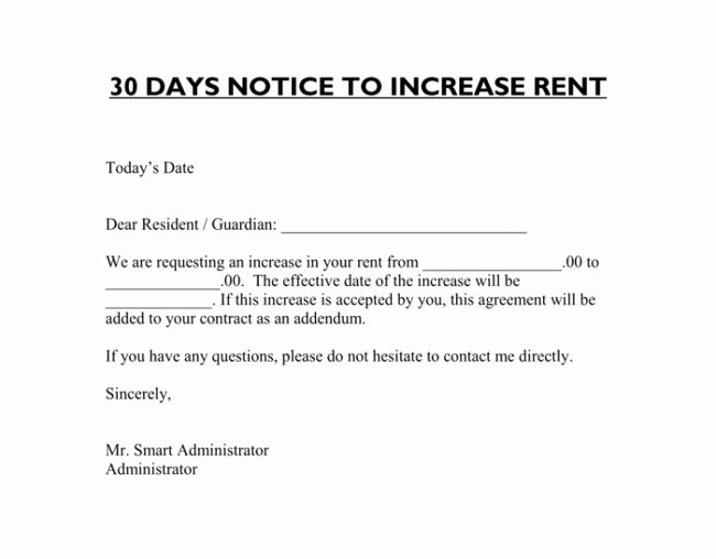 Sample Rent Increase Letter Template Beautiful Rent Increase Letter 7 Samples In Word Pdf Format Letter Templates Lettering Simple Cover Letter Template Rent increase letter sample