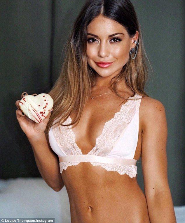 Get Valentine's Day ready in Louis Thompson's pretty pink bralette #DailyMail