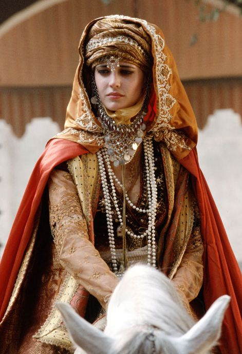 Eva Green in  'Kingdom of Heaven' (2005). Time period is 12th century Jerusalem during the Crusades.