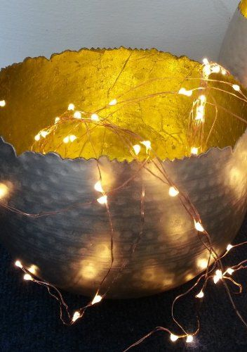 Engelshaar LED: 49.99€  Lichterregen 180 Lichter für elegante Dekoration Micro LED Lichterkette, Auswahl:kupfer: Amazon.de: Küche & Haushalt