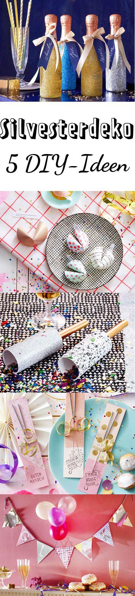Glitzer, Konfetti und selbst gemachte Glückskekse sorgen für allerbeste Stimmung auf der Silvesterparty.