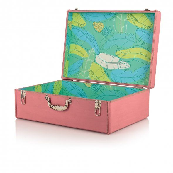 Large Tropical Decorative Storage Suitcase | New | Oliver Bonas