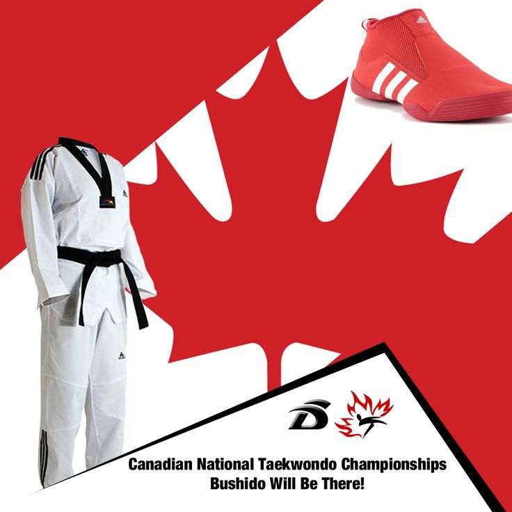 We are attending the 2017 Canadian National Taekwondo Championships in Calgary this weekend, comment below if you'll be there! We also have plenty of Taekwondo gear available in our store: http://bushido.ca/adidas #vancouver #martialarts  #boxing #adidasshoes #adidas #taekwondo #taekwondoforlife #taekwondolove #adidasTKD #adidascanada