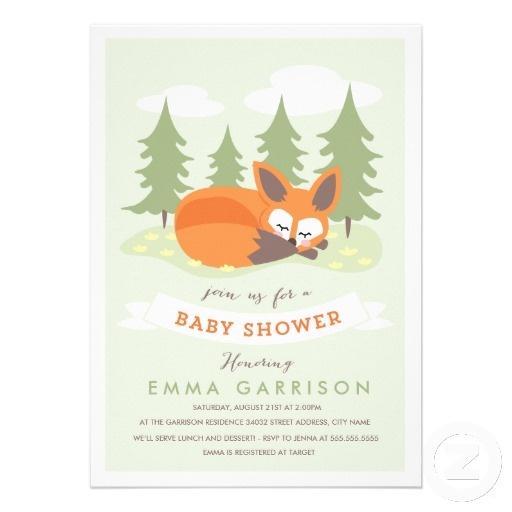little fox baby shower invitation fox baby showers themed baby showers