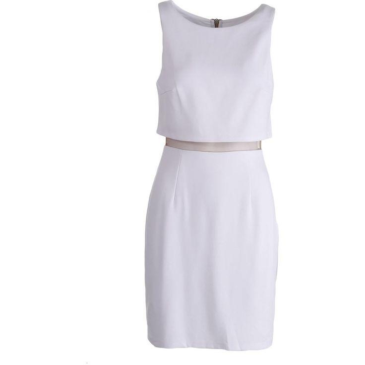 Bailey 44 Womens Middle LineBacker Ponte Mesh Inset Clubwear Dress