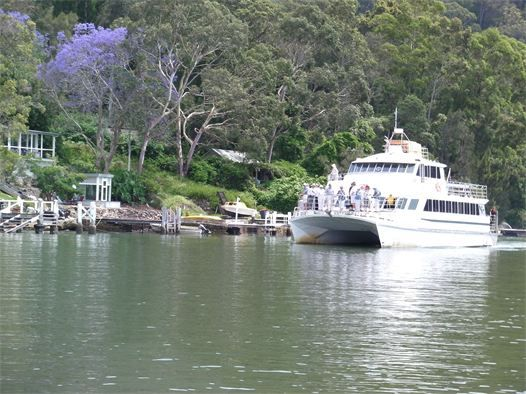 The Riverboat Postman, or Hawkesbury Mailboat, at Bar Point on the Hawkesbury River
