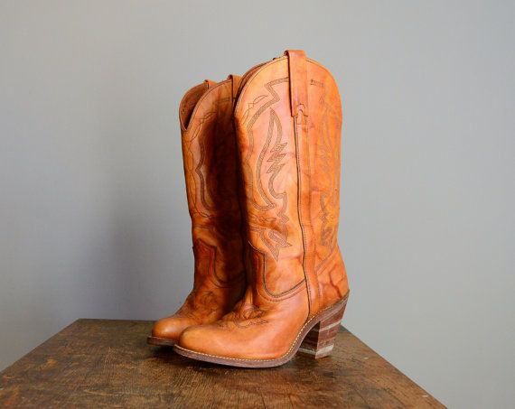 Vintage 1970s Cowboy Boots.Shoes, Cowgirl Boots, High Heels Boots, High Heel Boots, Country Girls, Southern Girls, Fall Boots, Cowgirls Boots, Cowboy Boots 3