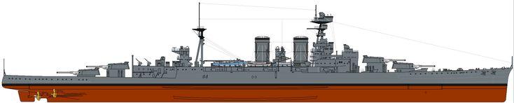 HMS_Hood_(1921)_profile_drawing.png (2176×436)