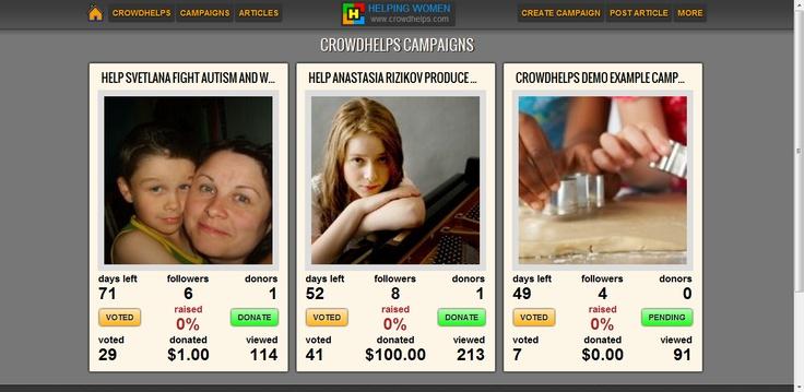 Crowdfunding site for women crowdhelps.com