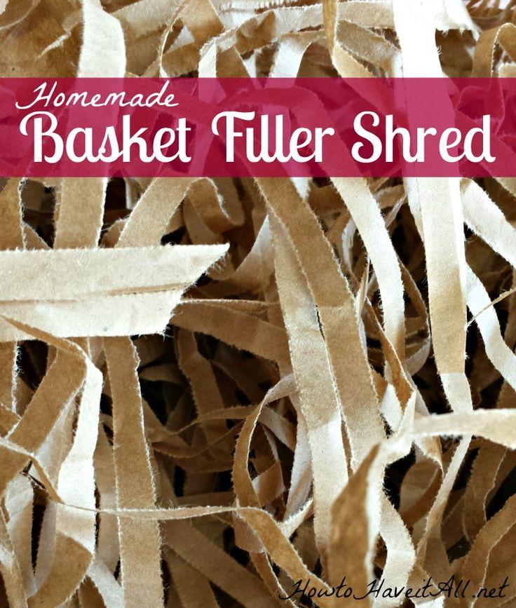 Diy Gift Basket Filler Shred Paper Baskets And Diy Paper