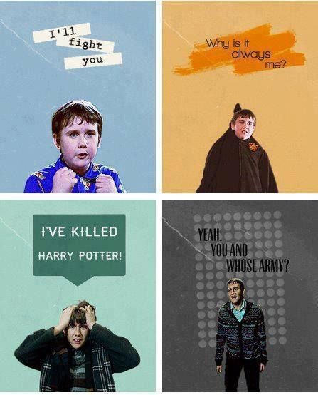 "Neville grew up. Too funny when the pixies had him and he goes ""Why is it always me?"""