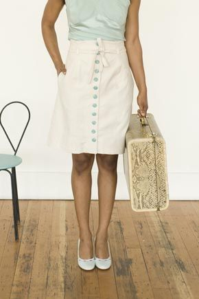 Beignet by Colette. I think I might need to make this - I want a button-front skirt.