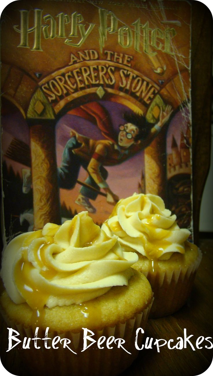 butterbeer cupcakes! HARRY POTTER MARATHON!