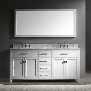 Virtu USA Caroline 72-Inch Double Sink Bathroom Vanity Set | Overstock.com Shopping - Great Deals on VIRTU Bathroom Vanities
