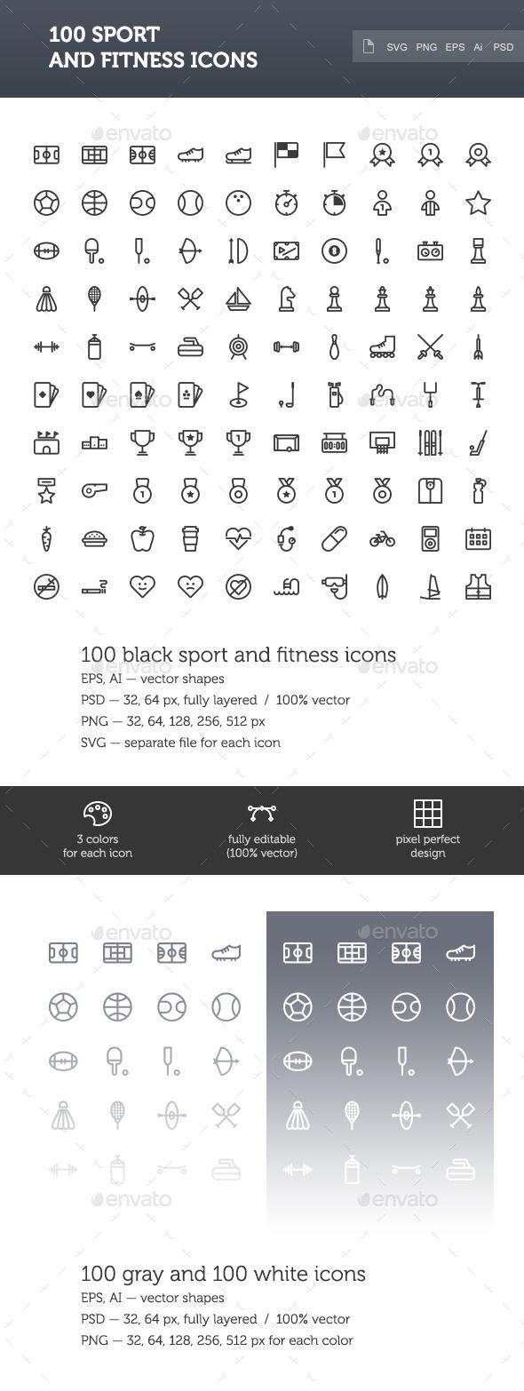 80 besten Sport Icon Sets Bilder auf Pinterest   Icon design ...