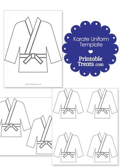 Printable Karate Uniform Template