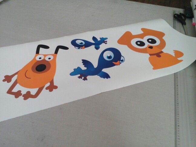 Cute animals decals for kids' room