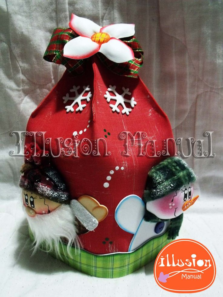 Cobertor Panetón #navidad #cobertor #noel #nieve #gomaeva #microporoso #foami #illusionmanualidades