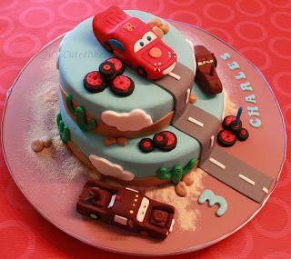 jus cutecakes gteau cars pour anniversaire de charles joyeux anniversaire