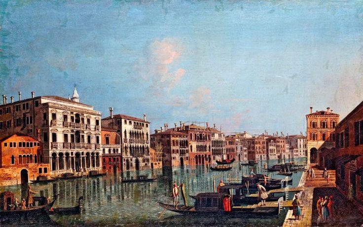 Albotto, Francesco; A Canale Grandeval a Peschierinél; VÉDETT - NO EXPORT; olaj, vászon