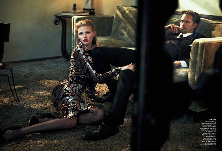 that man.. -Alexander Skarsgard & Lara Stone in Vogue july '11-