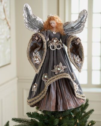 """Katherine's Collection """"Avverno"""" Angel Tree Topper - Horchow"""