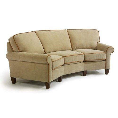 Flexsteel westside casual style conversation sofa for Casual couch