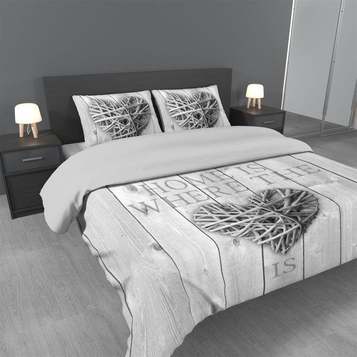 Dekbedovertrek Home is Wood 100% microvezel— Dekbedovertrek.nl
