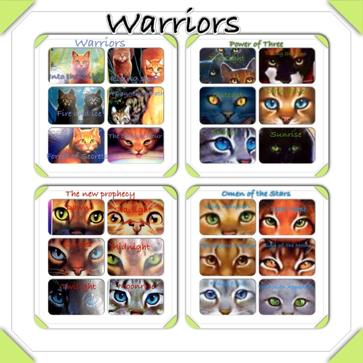 Warriors Books: 17 Best Images About Warrior Cats On Pinterest
