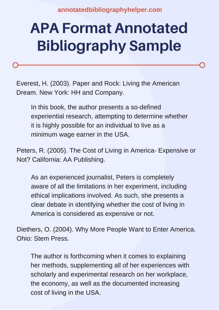 Writing an Annotated Bibliography Painlessly