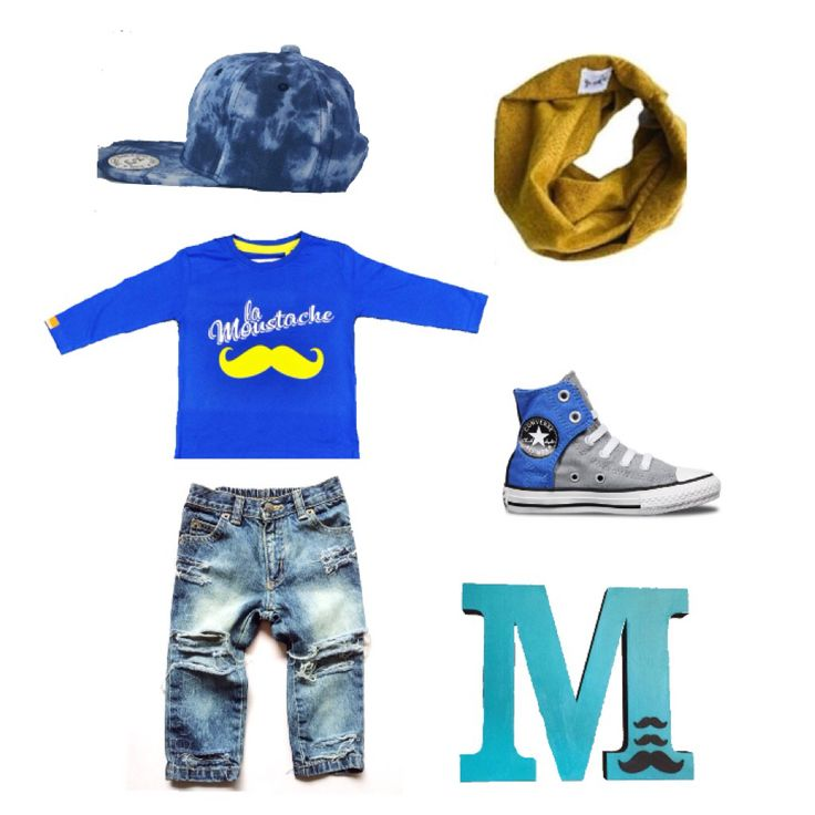 """Just thought we would just create a little #ootd #flatlay Inspo for little hipsters including items we love with our #MÔMES """"La Moustache"""" tee  Aren't they all awesome?!  & oh we had to include this handcrafed letter M by @lexs_stash as it would look awesome in your little one's room! ❤️#momesflatlay#inspo#handcrafted#organiccotton#moustache#swag#hipster#momes"""