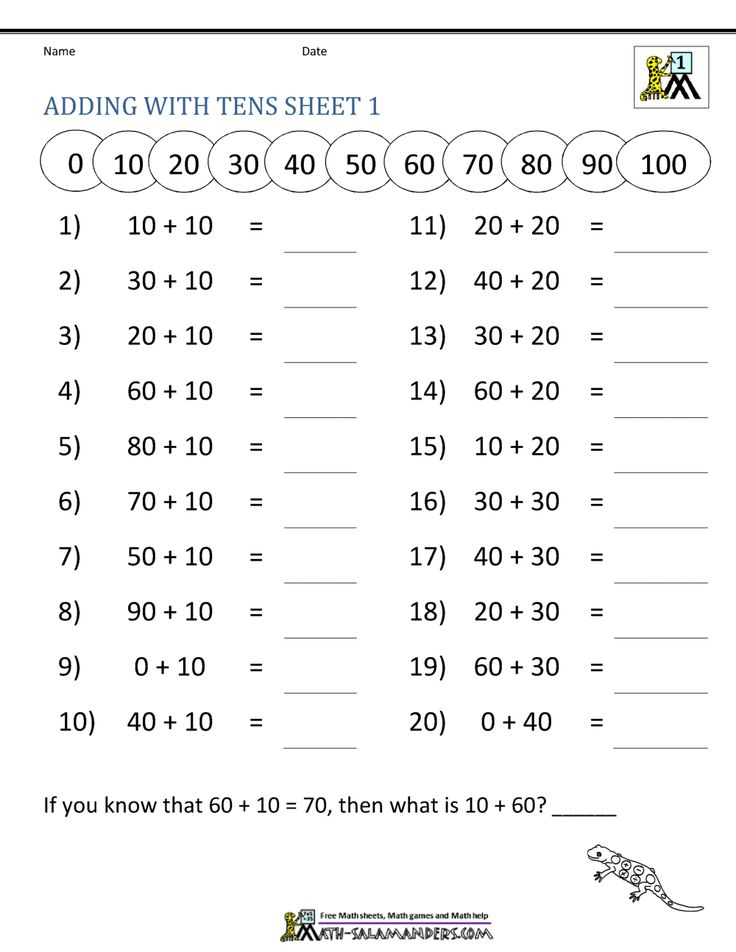adding in 2020 Addition worksheets, 1st grade math
