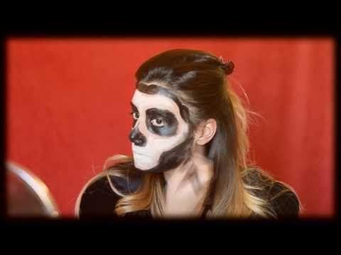 Halloween Makeup: tutorial per realizzare un trucco da teschio.  Makeup artist: Melissa Blutitilla Nostini  Video: René Mt2