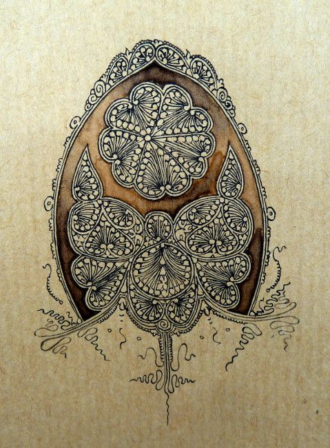 Anachropsy - Calligraphie latine par Benoit Furet - Vigne sur zinc