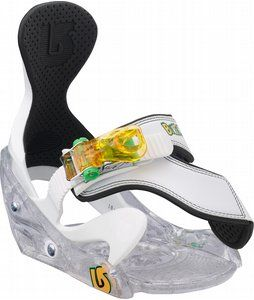 On Sale Burton Grom Snowboard Bindings White - Kids, Youth up to 40% off