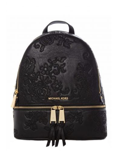 MICHAEL KORS Michael Kors Black Lace Backpack