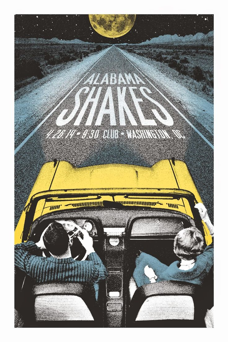Alabama Shakes Washington DC Posters by Lastleaf Printing -space -form -value…