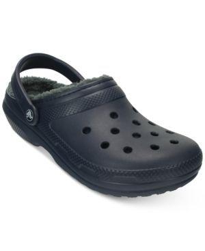Crocs Men's Classic Lined Clogs - Blue 4