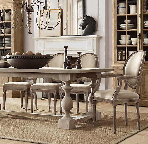 Restoration Hardware Dining Room Table And Chairs.