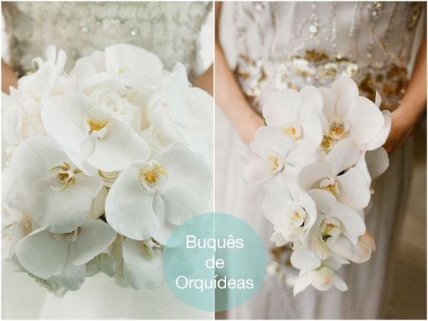 White Orchid Bouquet | Buque Branco de Orquidea