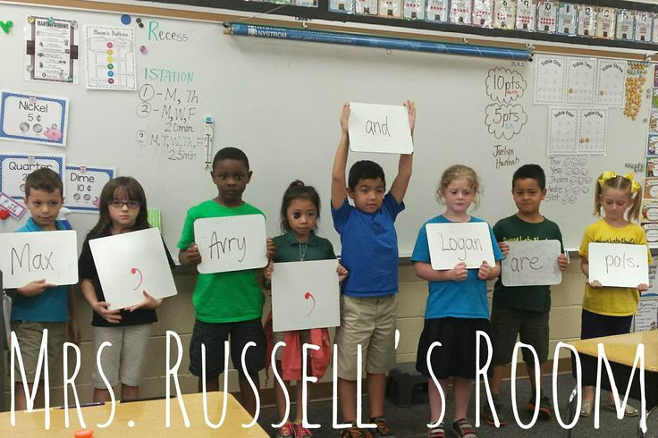 Teaching commas in a series