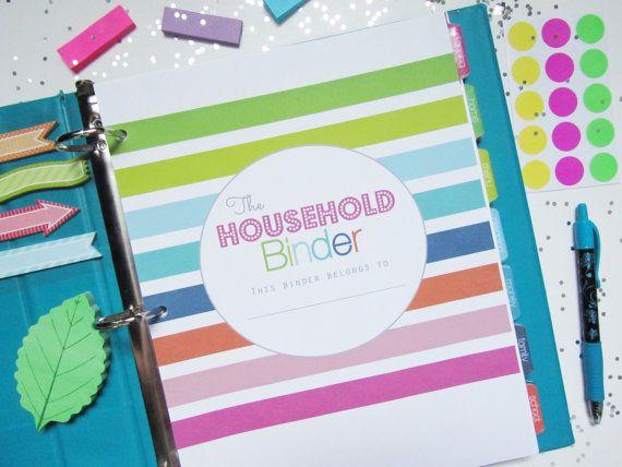 Household Binder 146 PDF Printable Planner Pages - INSTANT DOWNLOAD - Home Management