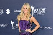 Singer Carrie Underwood arrives at the 46th Annual Academy Of Country Music Awards RAM Red Carpet held at the MGM Grand Garden Arena on April 3, 2011 in Las Vegas, Nevada.