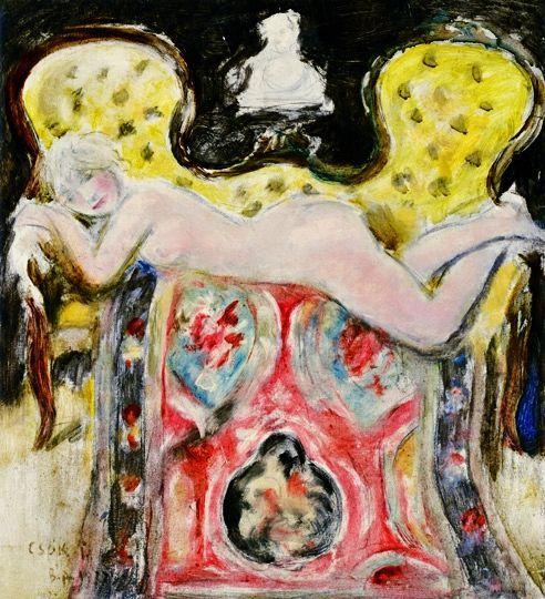 Csók, István (1865-1961) Lying nude, 1917