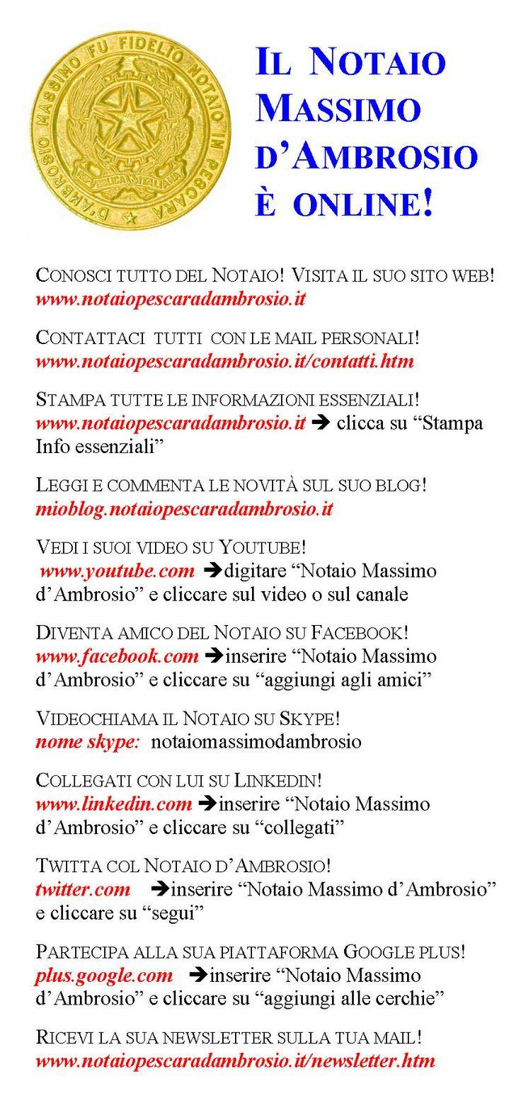 Il notaio Massimo d'Ambrosio di Pescara è ora on-line!