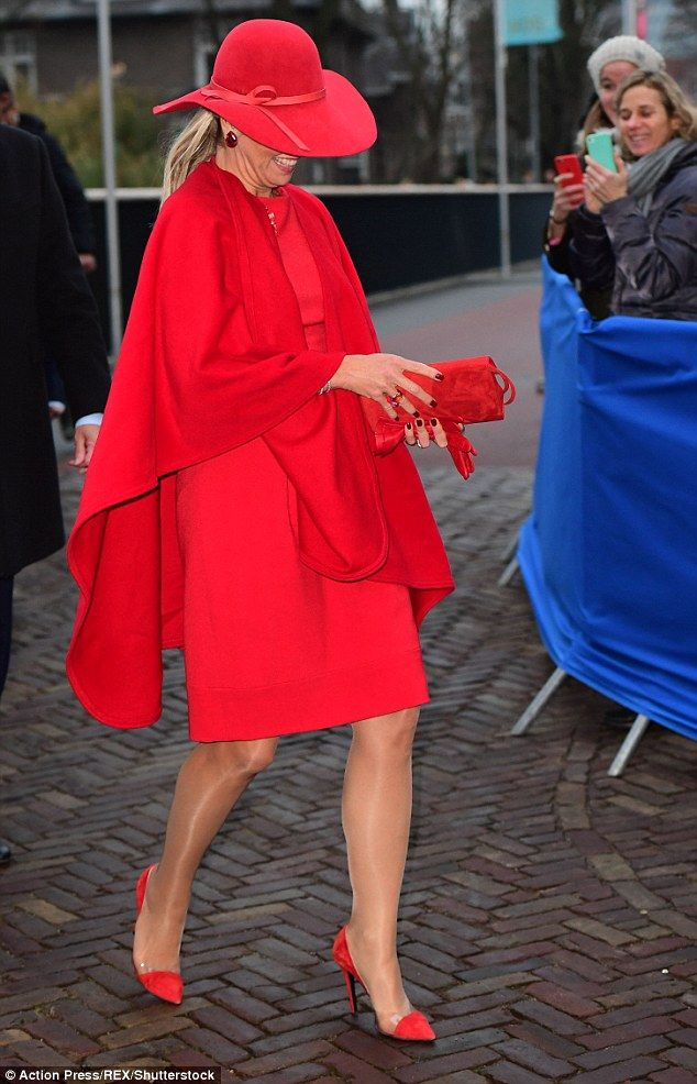 Mother-of-three Máxima, who is married to King Willem-Alexander of the Netherlands, looked...