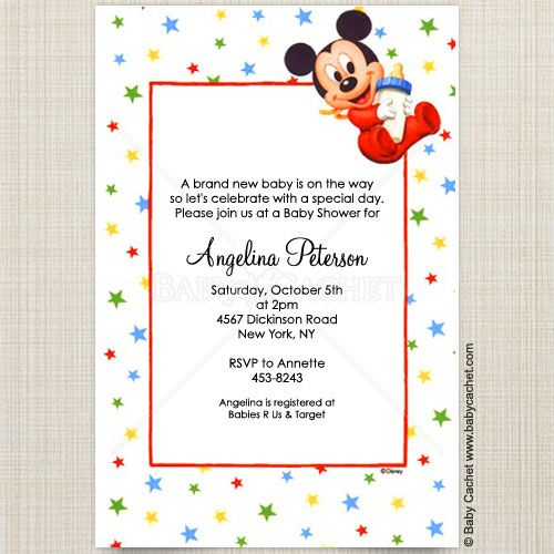 disney baby mickey bottle baby shower invitations baby mickey disney